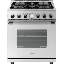 "Range NEXT 30"" Classic Stainless steel 4 gas, electric oven, self-clean"