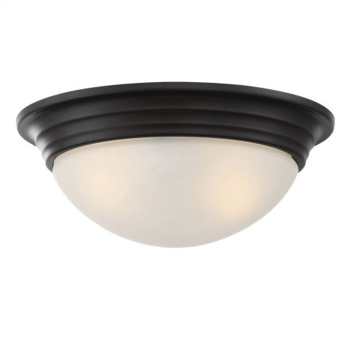 "11"" Flush Mount White Glass"