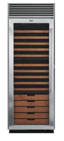 """30"""" Full-Height Wine Cellar, Clear Glass, Left Hinge/Right Handle"""