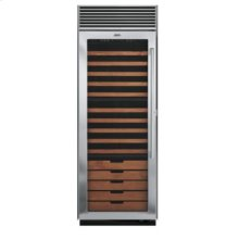 "30"" Full-Height Wine Cellar, Clear Glass, Left Hinge/Right Handle"