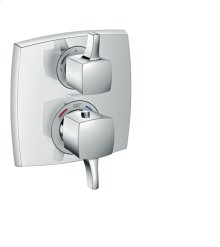 Chrome Thermostatic Trim with Volume Control, Square