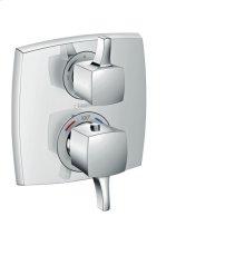 Chrome Thermostatic Trim with Volume Control, Square