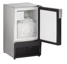 """SS98NF 15"""" Marine Crescent Ice Maker Stainless Solid Field Reversible (No Flange)"""