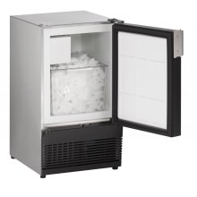 """15"""" Marine Crescent Ice Maker Stainless Solid Field Reversible (No Flange)"""