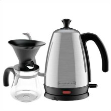 BLACK+DECKER Gooseneck Kettle, Pour Over Coffee Kit, Stainless Steel