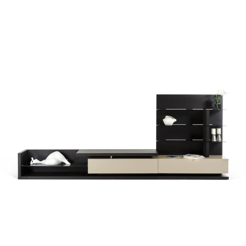 Modrest Jefferson Modern Wenge & Beige TV Unit