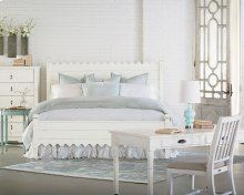 Farmhouse Bedroom With Scallop Bed
