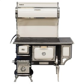 Ivory Oval Wood Cookstove with Water Reservoir