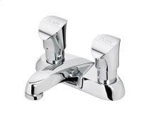 Chrome Commercial Two Handle Metering Lavatory Faucet