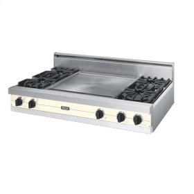 """Biscuit 48"""" Open Burner Rangetop - VGRT (48"""" wide, four burners 24"""" wide griddle/simmer plate)"""