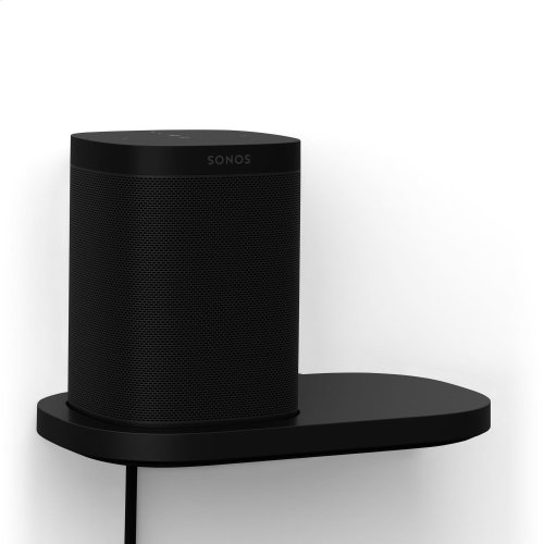 Black- Create a designated place for your Sonos One or Play:1 with this space-saving shelf.