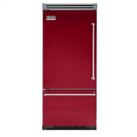 """Apple Red 36"""" Quiet Cool™ Bottom-Mount Refrigerator/Freezer - VIBB Tru-Flush™ (Left Hinge Door)"""