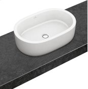 Surface-mounted washbasin (oval) Oval - White Alpin