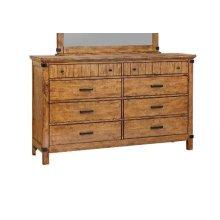 Brenner Rustic Honey Eight-drawer Dresser