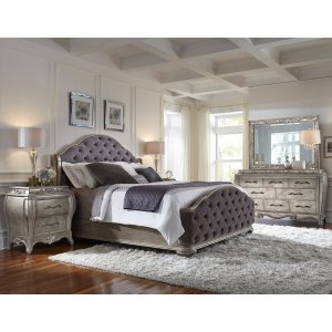 Rhianna Set of Upholstered Queen / King Side Rails