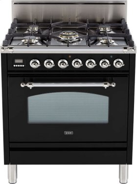 "Gloss Black - Nostalgie 30"" Gas Range"