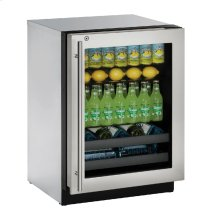 """Modular 3000 Series 24"""" Beverage Center With Stainless Frame (lock) Finish and Right-hand Hinged Door Swing"""