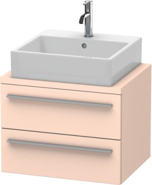 X-large Vanity Unit For Console Compact, Apricot Pearl Satin Matt Lacquer