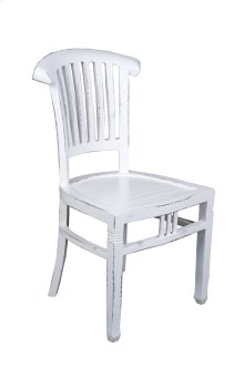 Sunset Trading Cottage Whitewashed Slat Back Chair - Sunset Trading