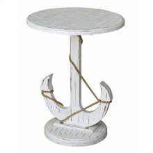 Bayside Blue Shell Anchor Table