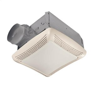 70 CFM Fan/Light with Transparent Polymeric Lens and Resin Grille; 100-watt Incandescent Lighting Product Image