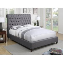 Devon Grey Upholstered Queen Bed