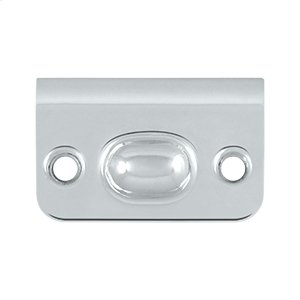 Strike Plate for Ball Catch and Roller Catch - Polished Chrome