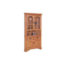 "Brookville Corner Hutch 25-1/2"" Full Length Doors"