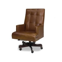 Maxwell Executive Swivel Chair has clean, transitional lines with a retro look.