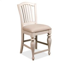 Mix-N-Match Counter Height Upholstered Chair Dover White finish