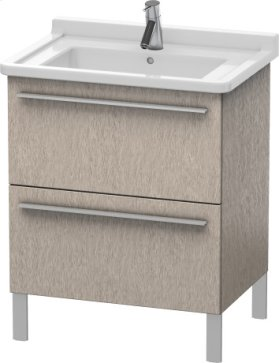 Vanity Unit Floorstanding, Cashmere Oak