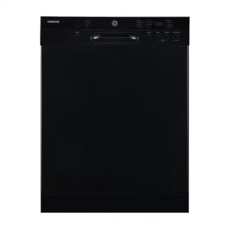 """GE 24"""" Built-In Front Control Dishwasher with Stainless Steel Tall Tub Black - GBF532SGMBB"""