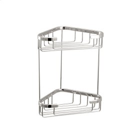 Two tier triangular basket
