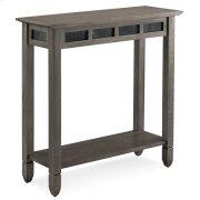 Smoke Grey Oak and Black Slate Hall Stand #10059-GR Product Image