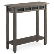 Smoke Grey Oak and Black Slate Hall Stand #10059-GR Product Image