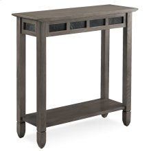 Smoke Grey Oak and Black Slate Hall Stand #10059-GR