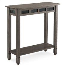 Smoke Grey Oak and Black Slate Hall Stand #10059-GR