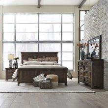 Queen Panel Bed, Dresser & Mirror, NS