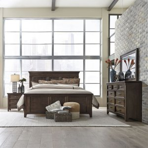 Liberty Furniture IndustriesQueen Panel Bed, Dresser & Mirror, Night Stand