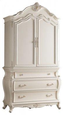 "Marquee Pearl White Armoire - 50""L x 22.5""D x 93""H"