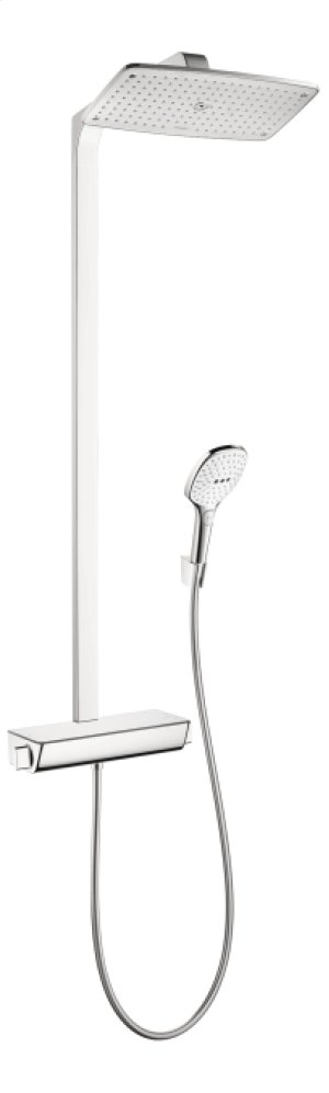 White/chrome Raindance Select E 360 Showerpipe, 2.5 GPM Product Image