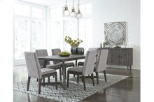 HOT BUY CLEARANCE!!! Besteneer Dark Grey Rectangular Dining Room Set: Table & 6 Chairs