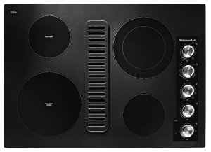 """30"""" Electric Downdraft Cooktop with 4 Elements - Black Product Image"""
