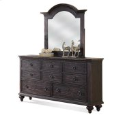 Bellagio Eight Drawer Dresser Weathered Worn Black finish Product Image