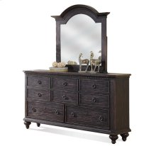 Bellagio Eight Drawer Dresser Weathered Worn Black finish