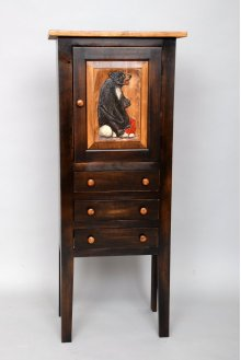 "#444 Savannah Cabinet(Shown with Carving) 19.75""wx12.5""dx48""h"