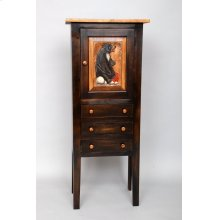 """#444 Savannah Cabinet(Shown with Carving) 19.75""""wx12.5""""dx48""""h"""