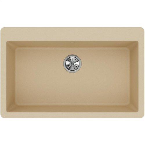 """Elkay Quartz Classic 33"""" x 20-7/8"""" x 9-7/16"""", Single Bowl Drop-in Sink, Sand"""