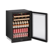 """1000 Series 24"""" Beverage Center With Stainless Frame Finish and Field Reversible Door Swing (115 Volts / 60 Hz)"""