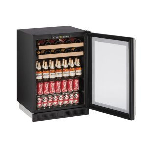 "U-Line 1000 Series 24"" Beverage Center With Stainless Frame Finish And Field Reversible Door Swing (115 Volts / 60 Hz)"
